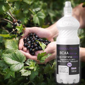 BCAA+L-glutamină Coacăze negre și Soc 1000ml x 6 buc