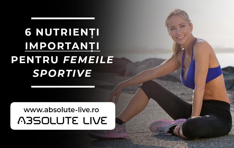 6 nutrienti importanti pentru femeile sportive
