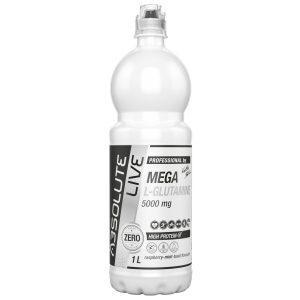 Mega L-glutamină 5000mg Căpșuni mentă busuioc - 1000ml
